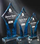 Blue / Clear Acrylic Diamond Award