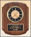 American Walnut Vertical Wall Clock. (BC828)